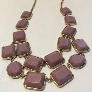 Gorgeous Purple & Gold tone Icing Necklace
